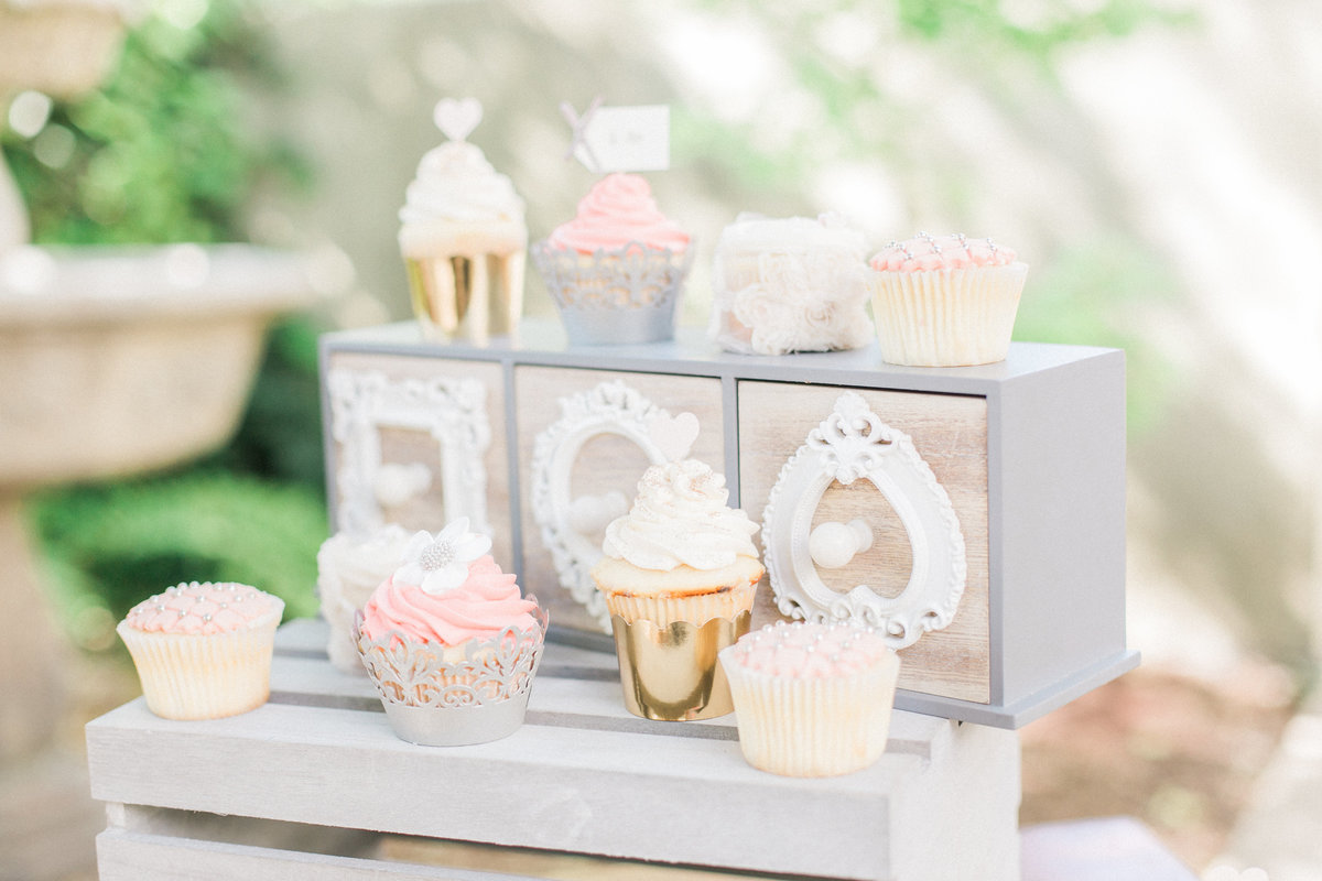Pastel Cupcakes Wedding Dessert Table