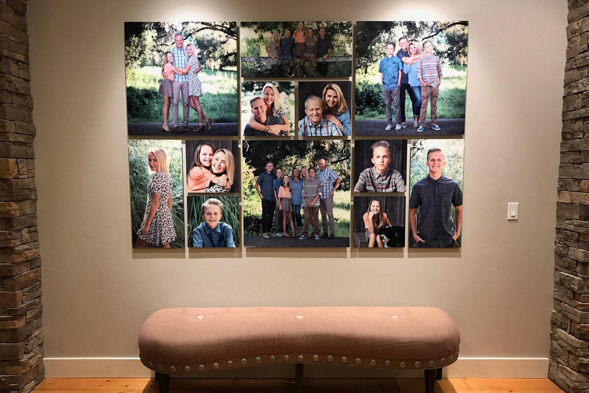 Wall Art Collage of Family Photos
