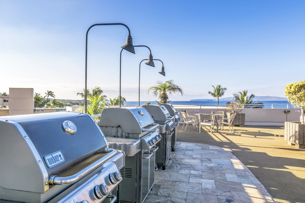 BBQs with ocean views