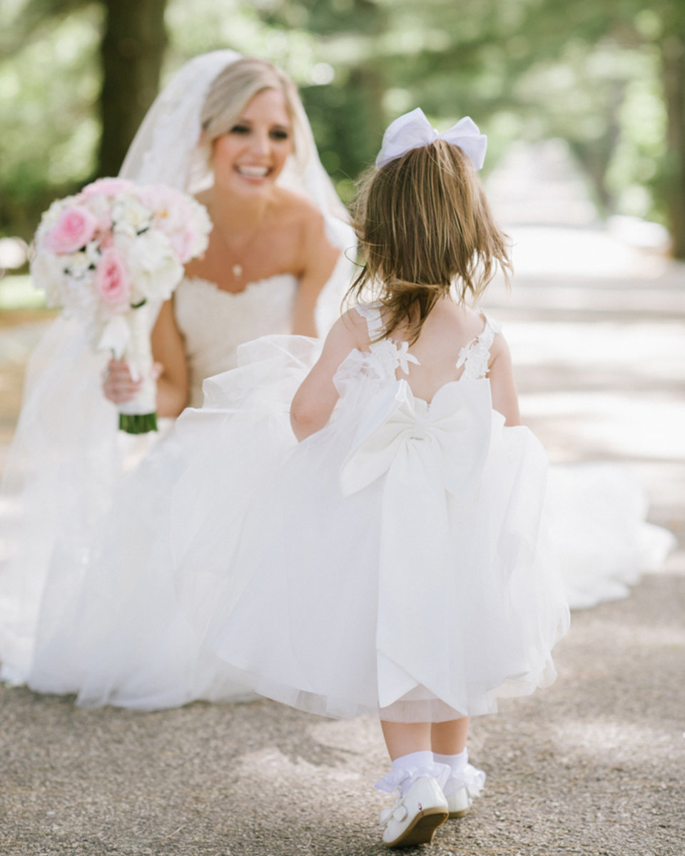 Bride and Flower Girl at The Ashford Estate in NJ