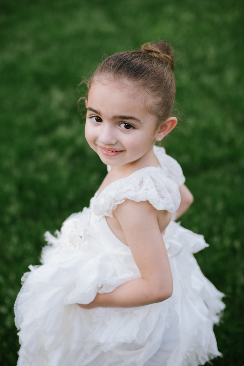 Photo of a flower girl at the Rocklaeigh CC