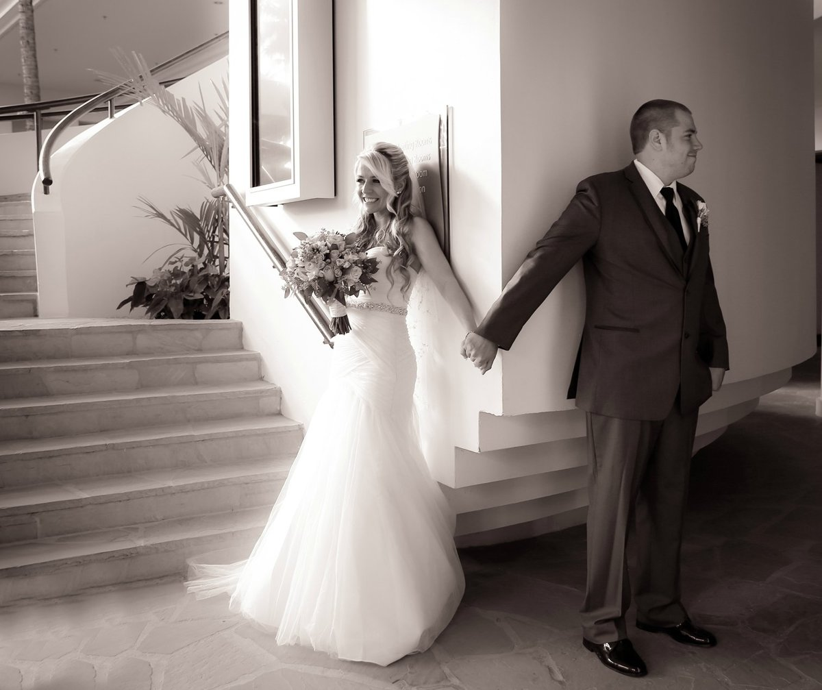 Capture Aloha Photography at The Westin Maui Resort and Spa With  Bride and Groom in grayscale