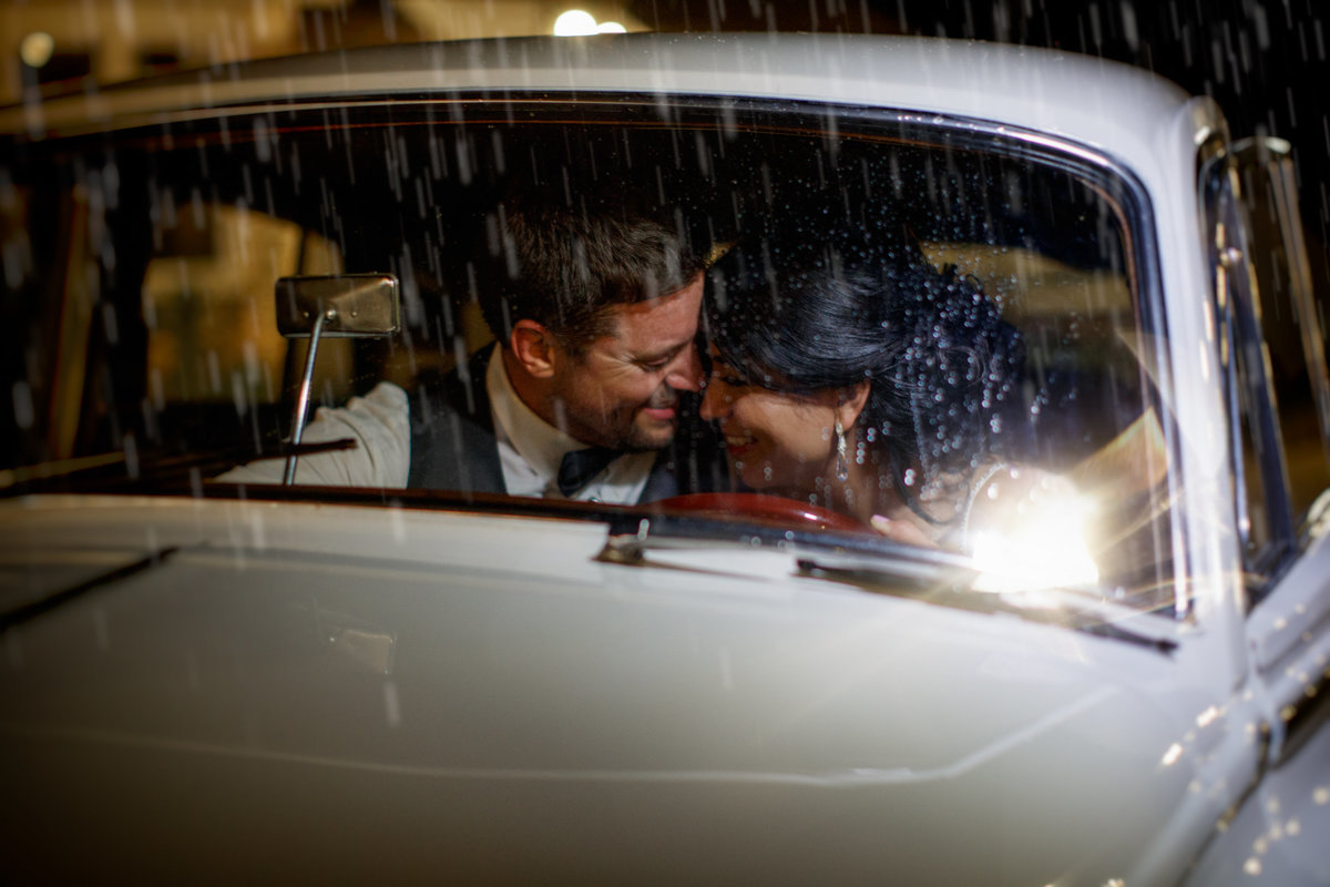 Austin wedding photographer casa blanca on brushy creek bride groom inside classic car