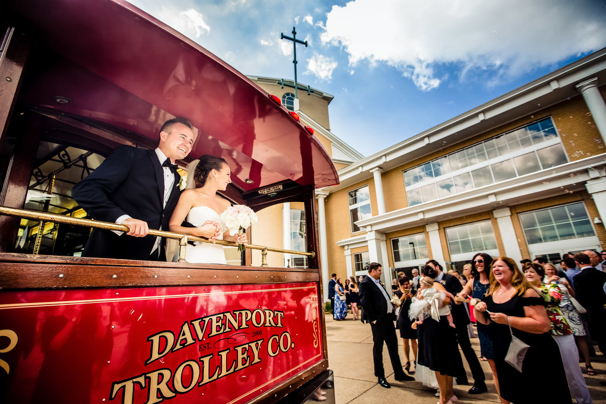 couple on Davenport trolley