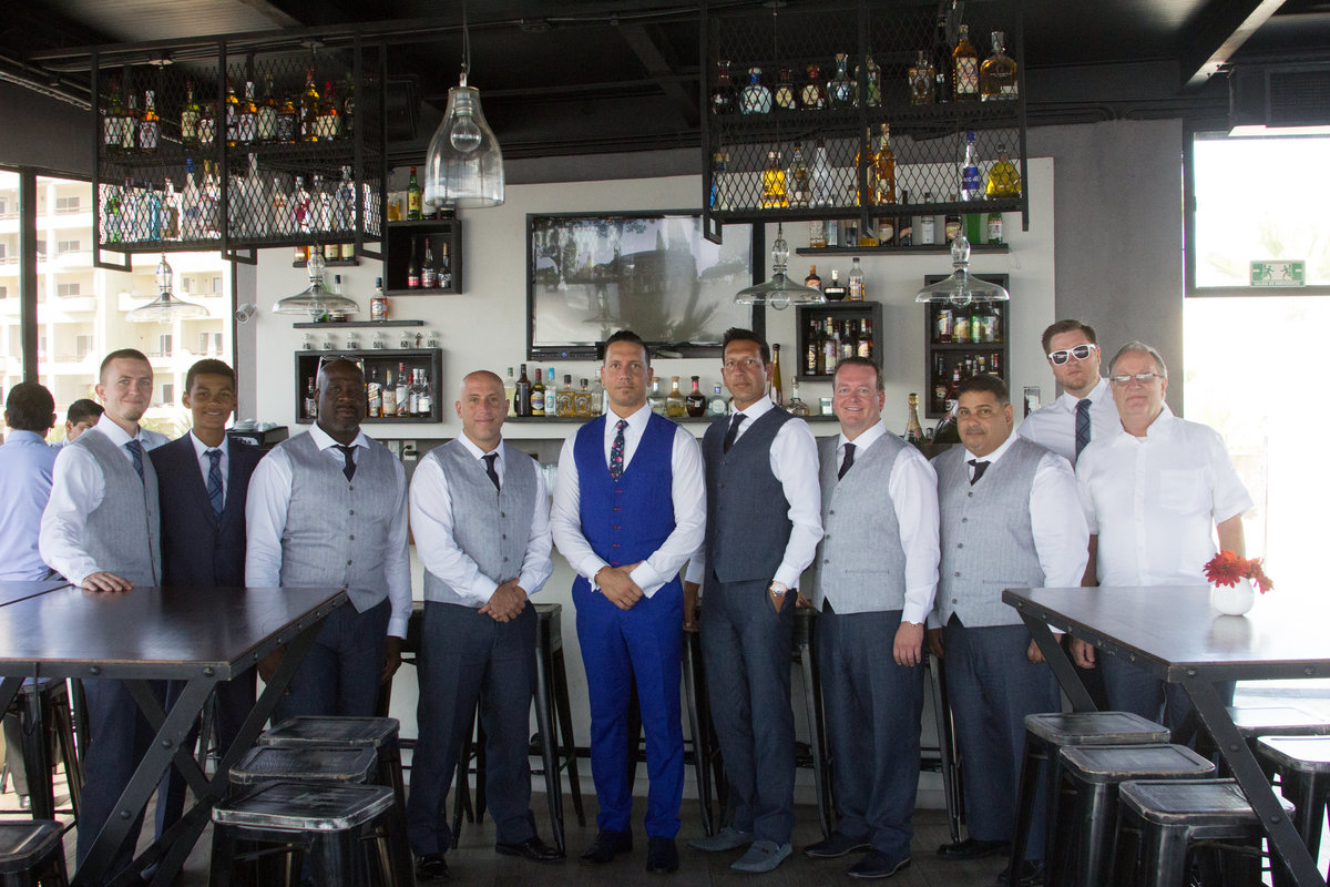 groomsmen in bar, groomsmen shot