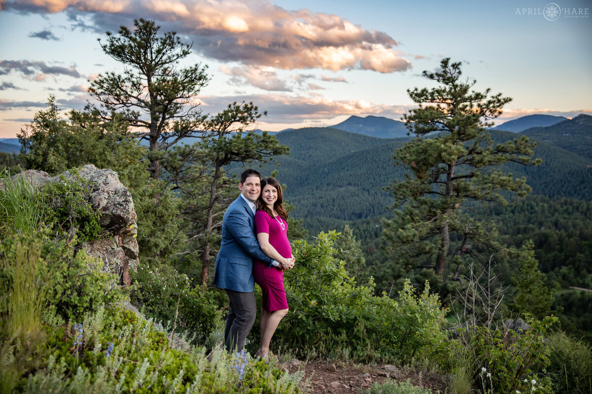 Maternity Portrait in Evergreen Colorado