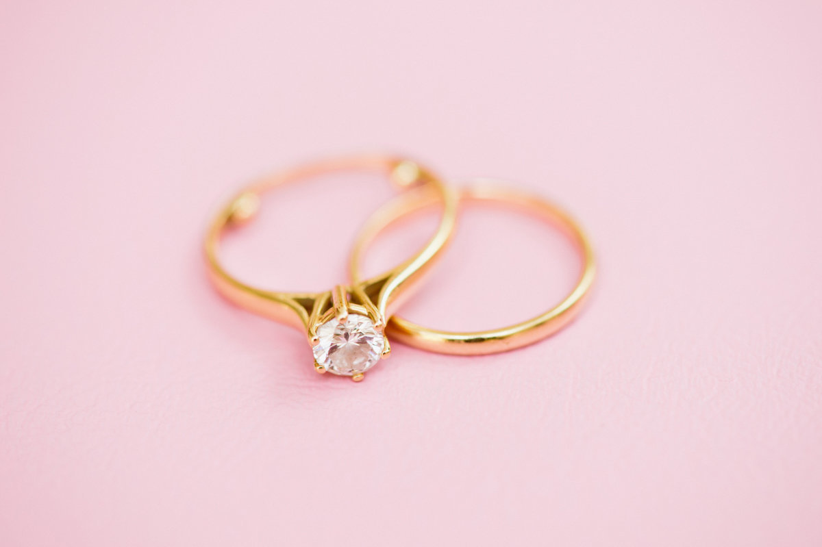 classic blush tones pinks engagement ring wedding bands rings