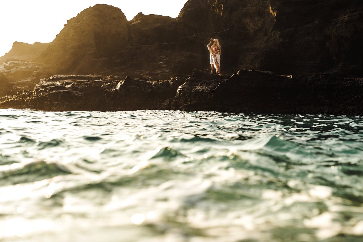 Eternity Beach Honolulu Hawaii Destination Engagement Session - 45