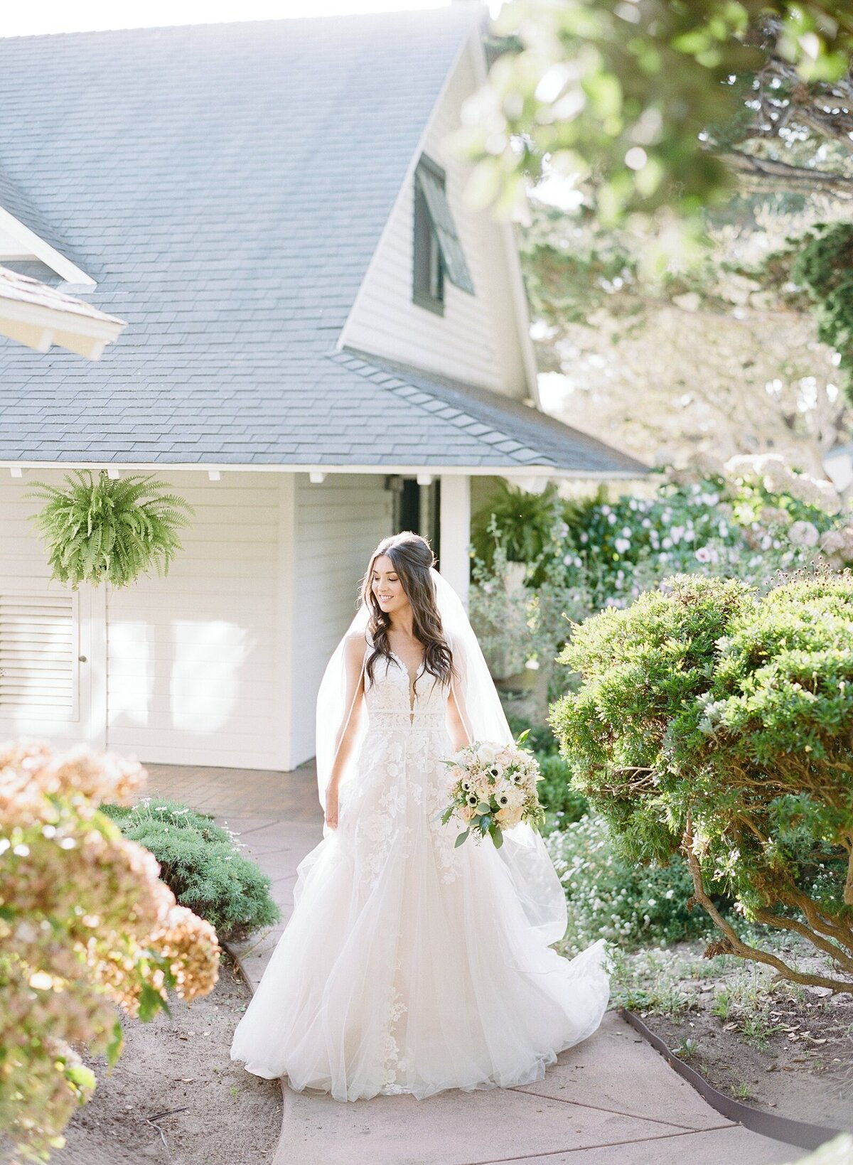 bridal-portrait-Mission-Ranch-Carmel-California-film-photographer