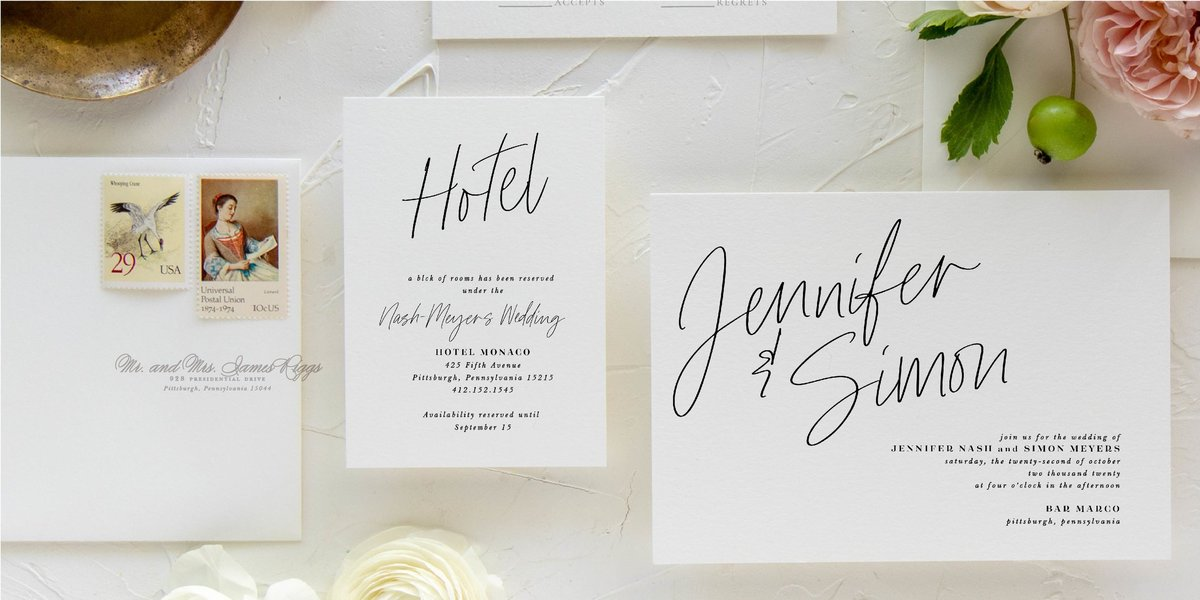 Classic Black and White Invitation