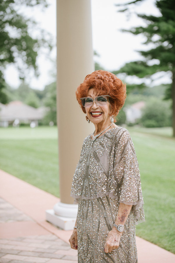 grandmother at a wedding reception in NY