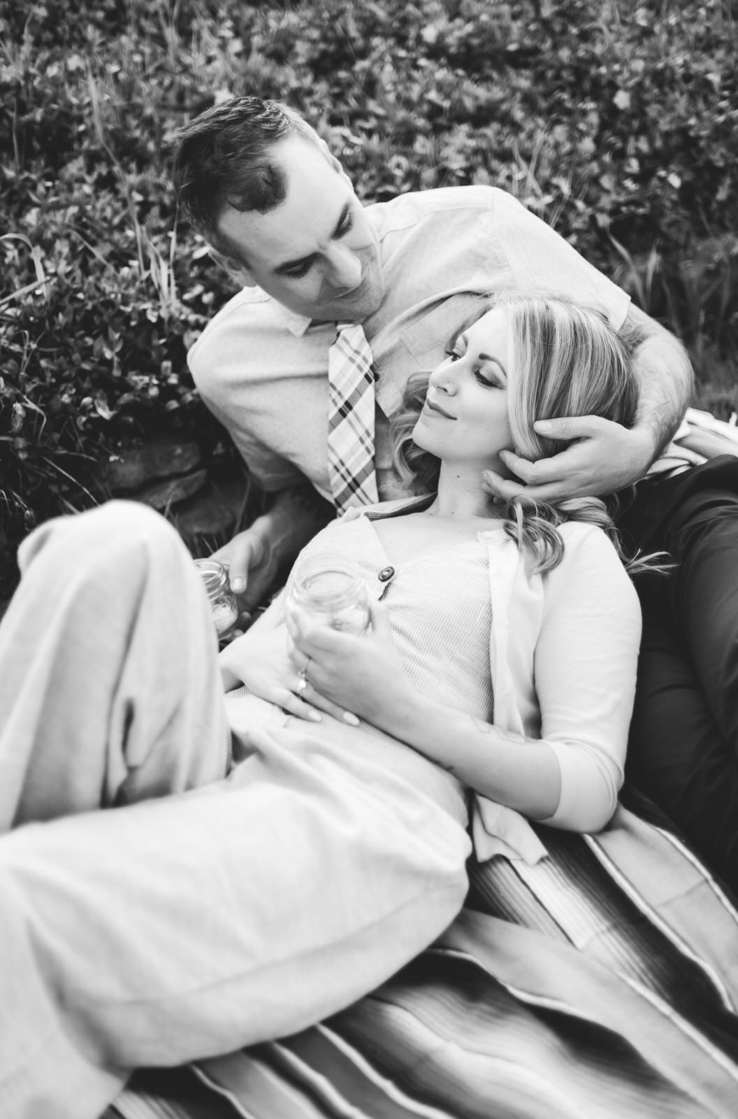 retro-black-and-white-engagement-shoot