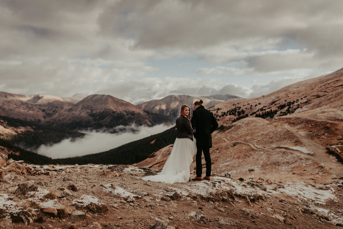 Elopement at Loveland Pass in Colorado