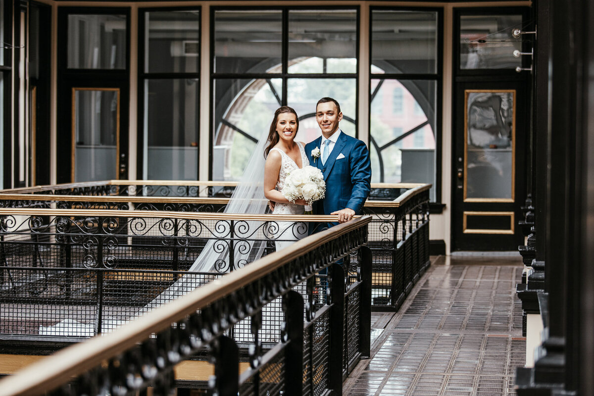 Bride & Groom in industrial building in Buffalo, New York