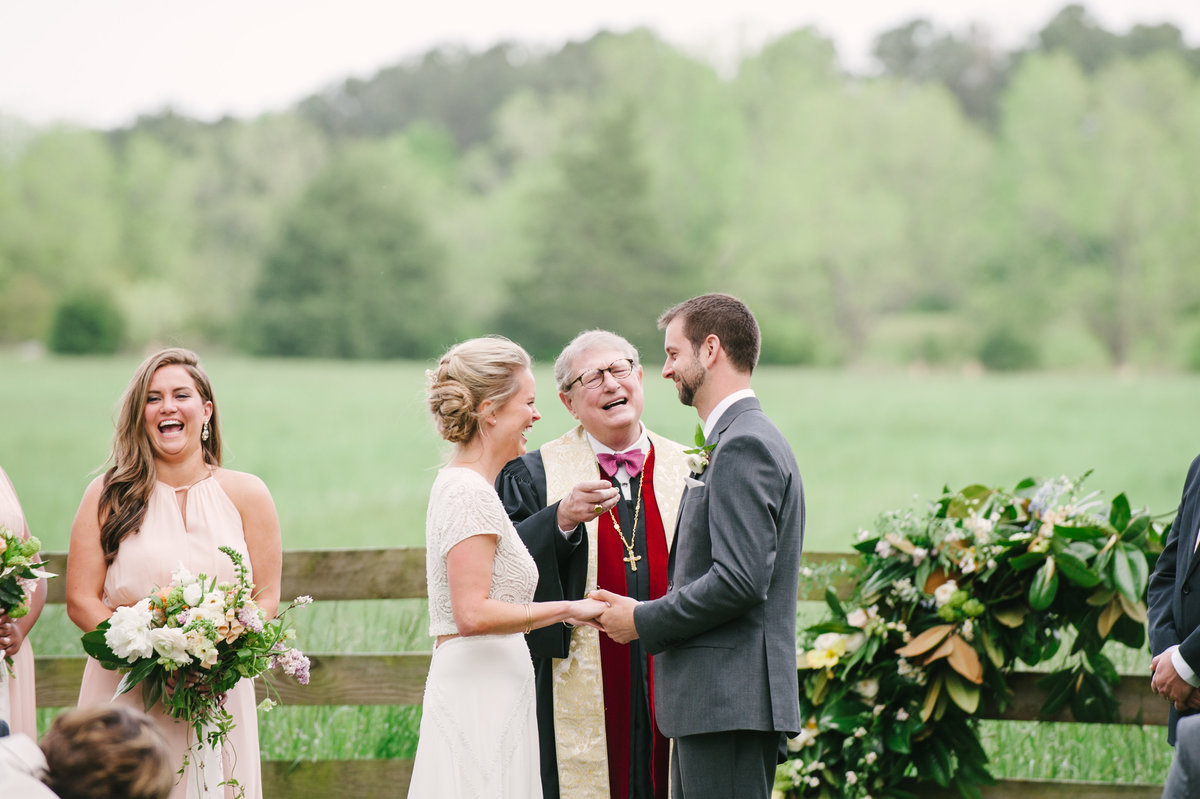 Laughter During Ceremony Outside