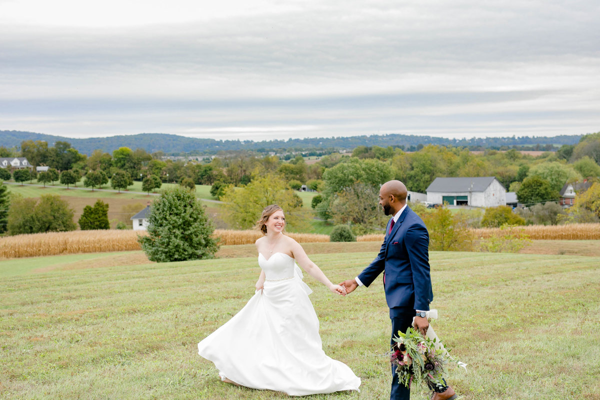 Heartwarming Fall Mountaintop Church Wedding in Middletown MD  - Maggie & Trae-115