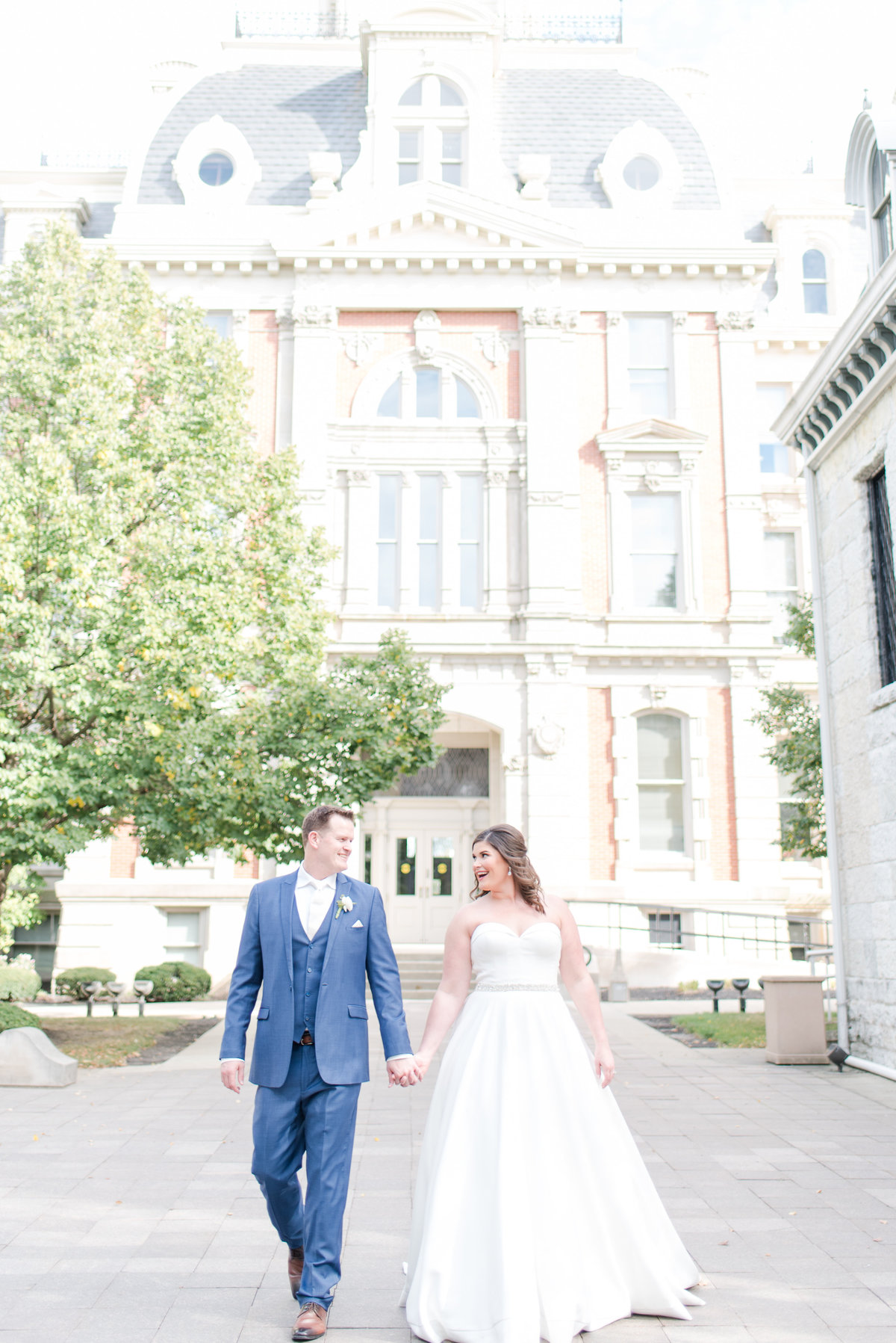 Newlywed Portraits Cait Potter Creative LLC Milltop Potters Bridge Noblesville Square Courthouse Wedding-33