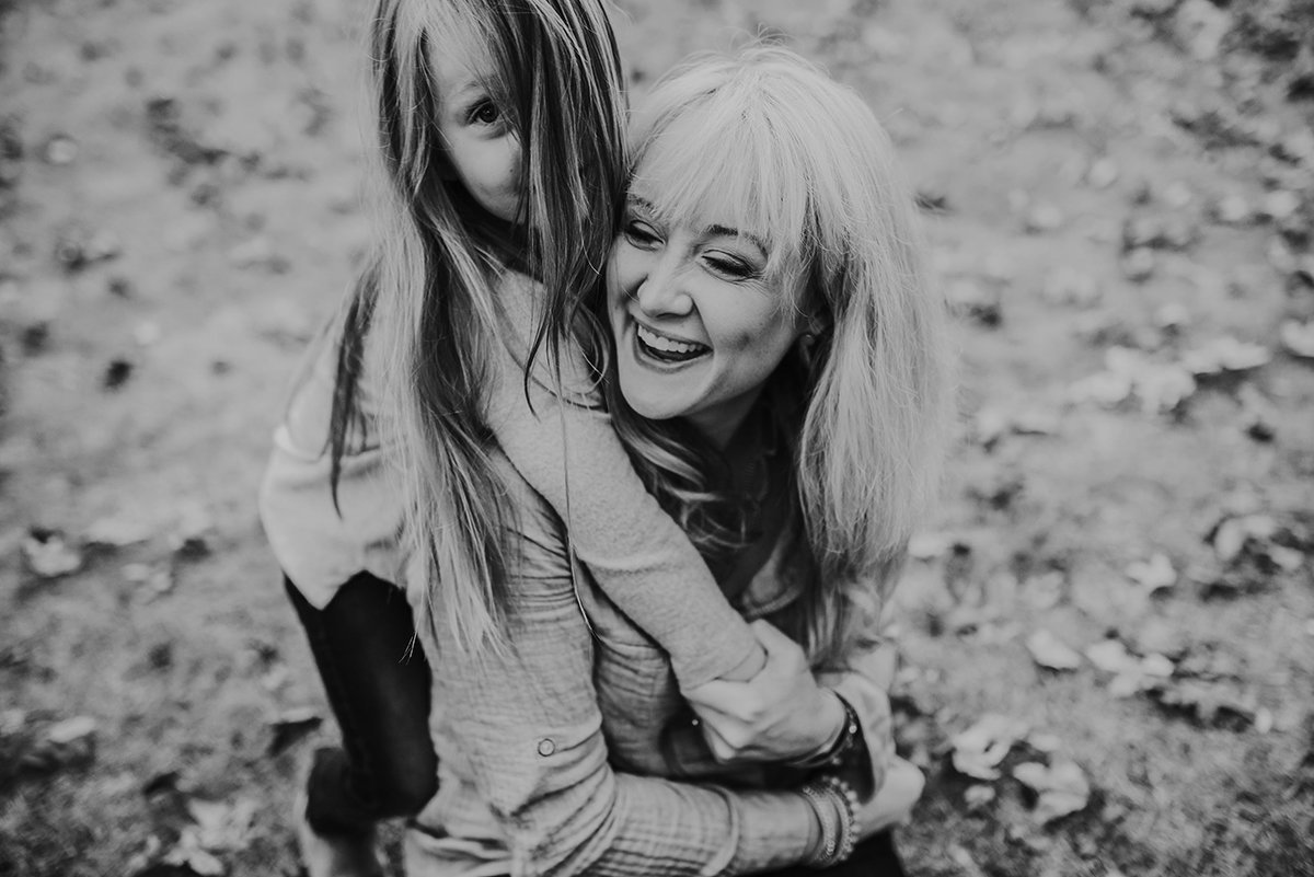 Birmingham, AL, BANG Images mother and daughter, black and white image