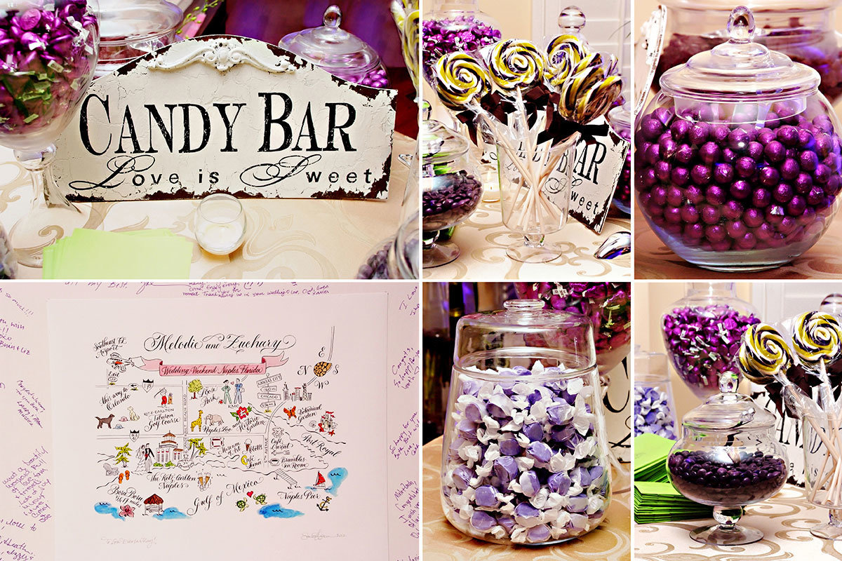 ritz carlton naples florida wedding candy bar
