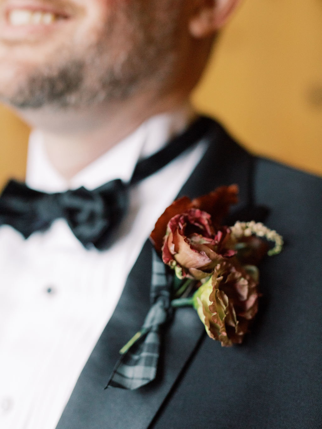fall boutonniere Philadelphia florist wedding groom