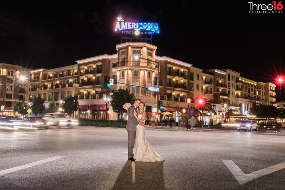Night Photography Los Angeles Wedding Photographer at Brandview Ballroom