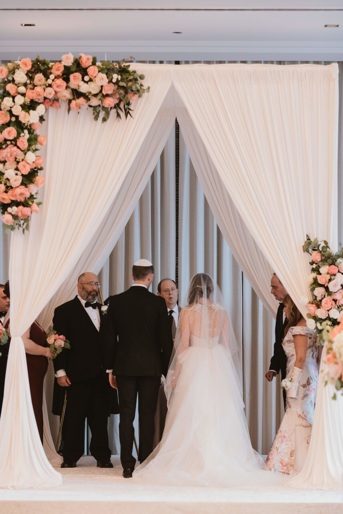 Chuppah with bride and groom