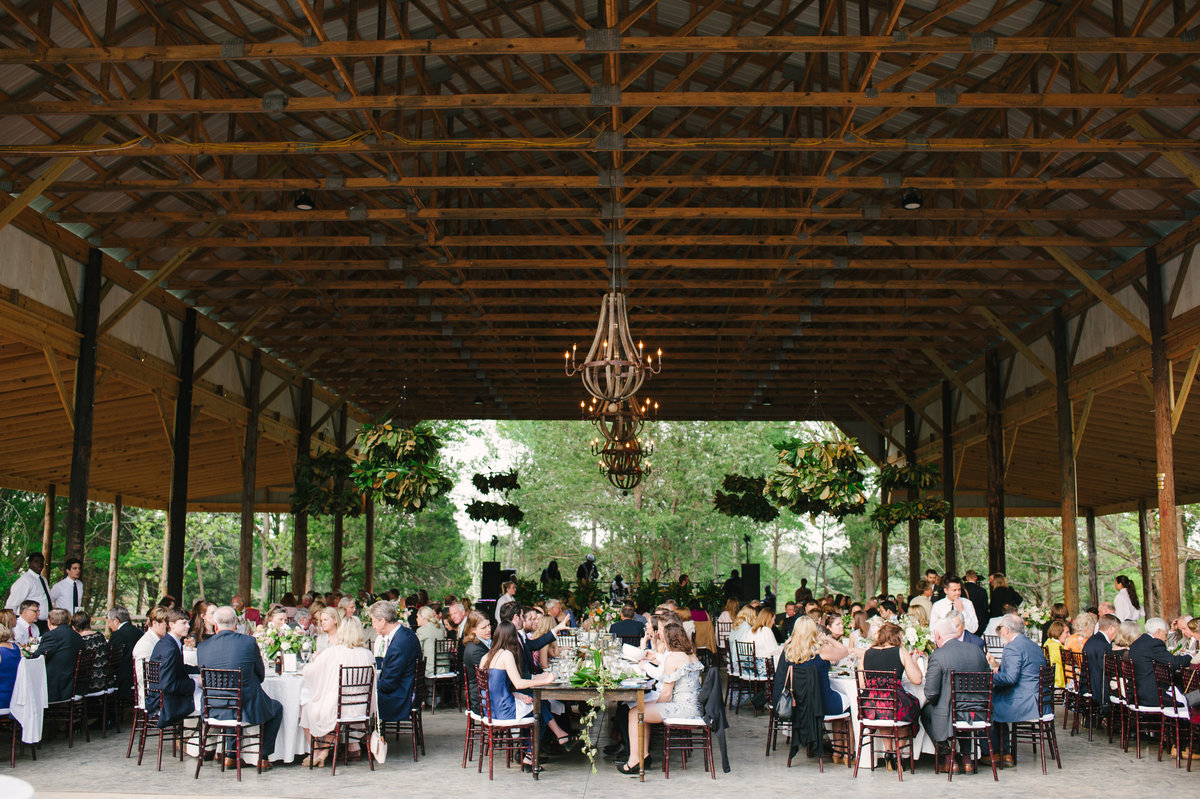 Guests at Dinner Southern Al Fresco Wedding