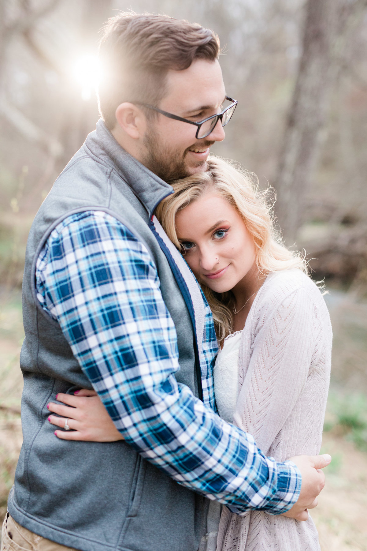 Gunpowder falls engagement - Central PA destination wedding photographers