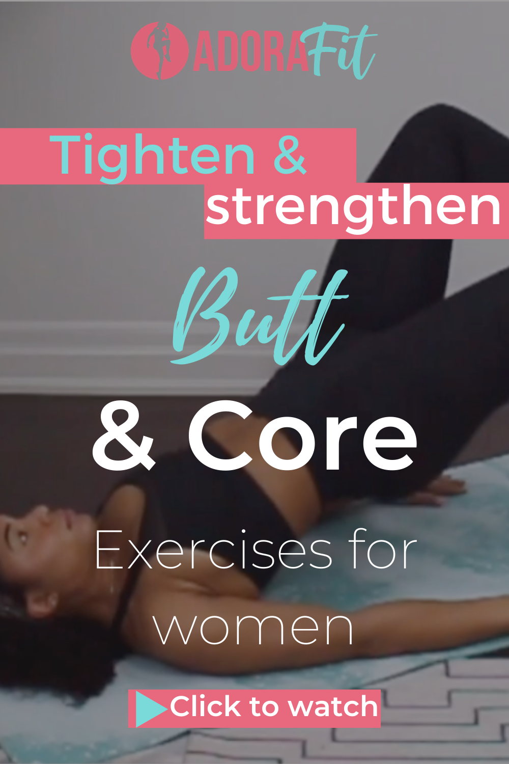 Booty + Core Workout At Home - Adorafit12