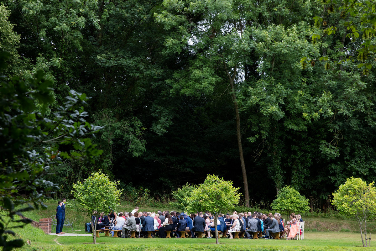 deer park devon wedding ceremony