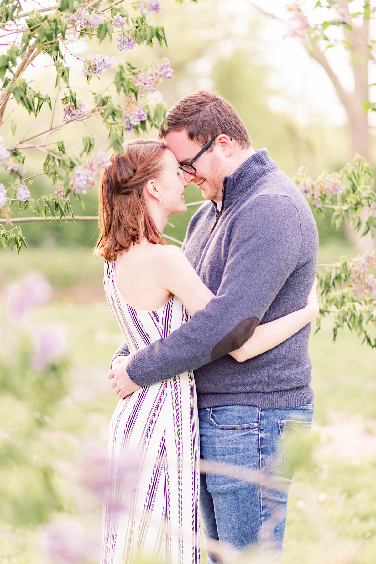 Cait Potter Creative LLC Holcomb Gardens Spring Engagement Photos-7