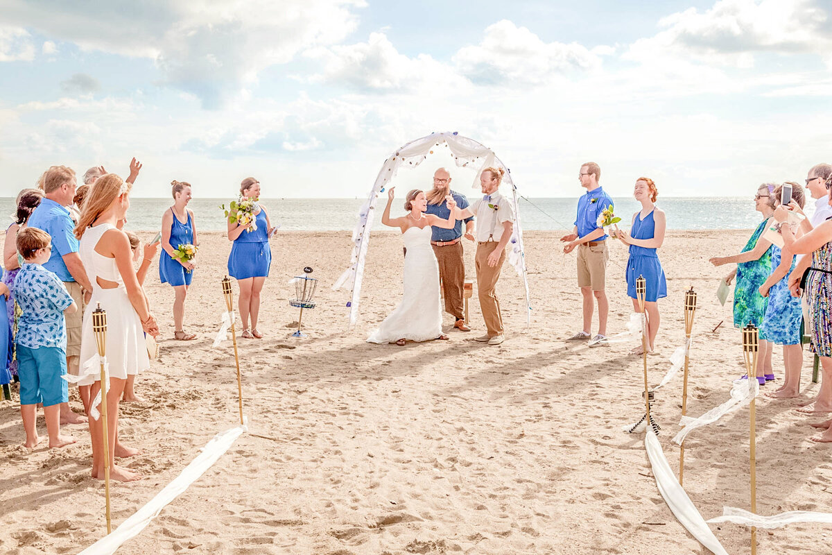 Bald Head Island Wedding Photography - Anna and Ray - Ceremony Announcement - Wilmington NC Photographer Team