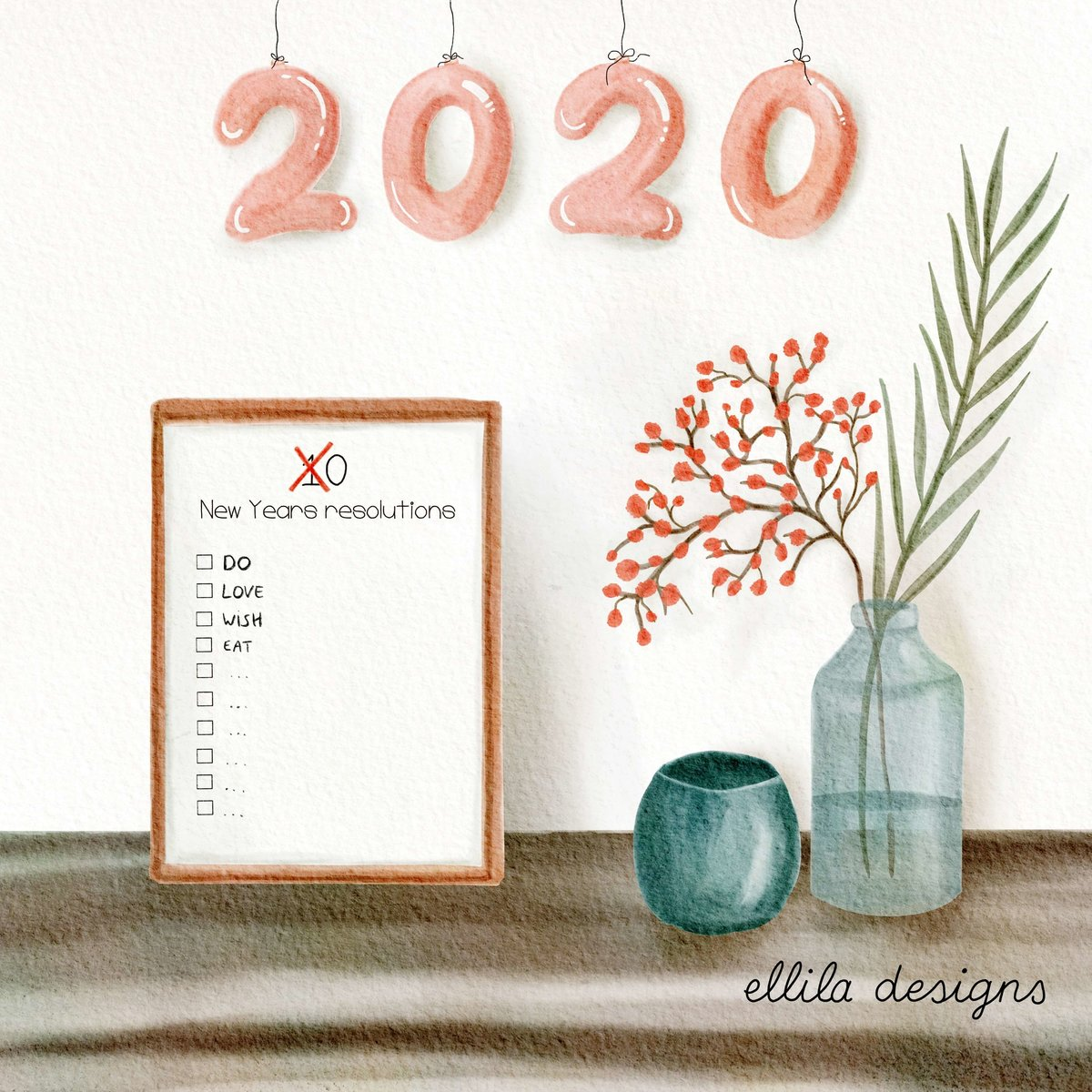 Decor 2020 illustration Ellila Designs