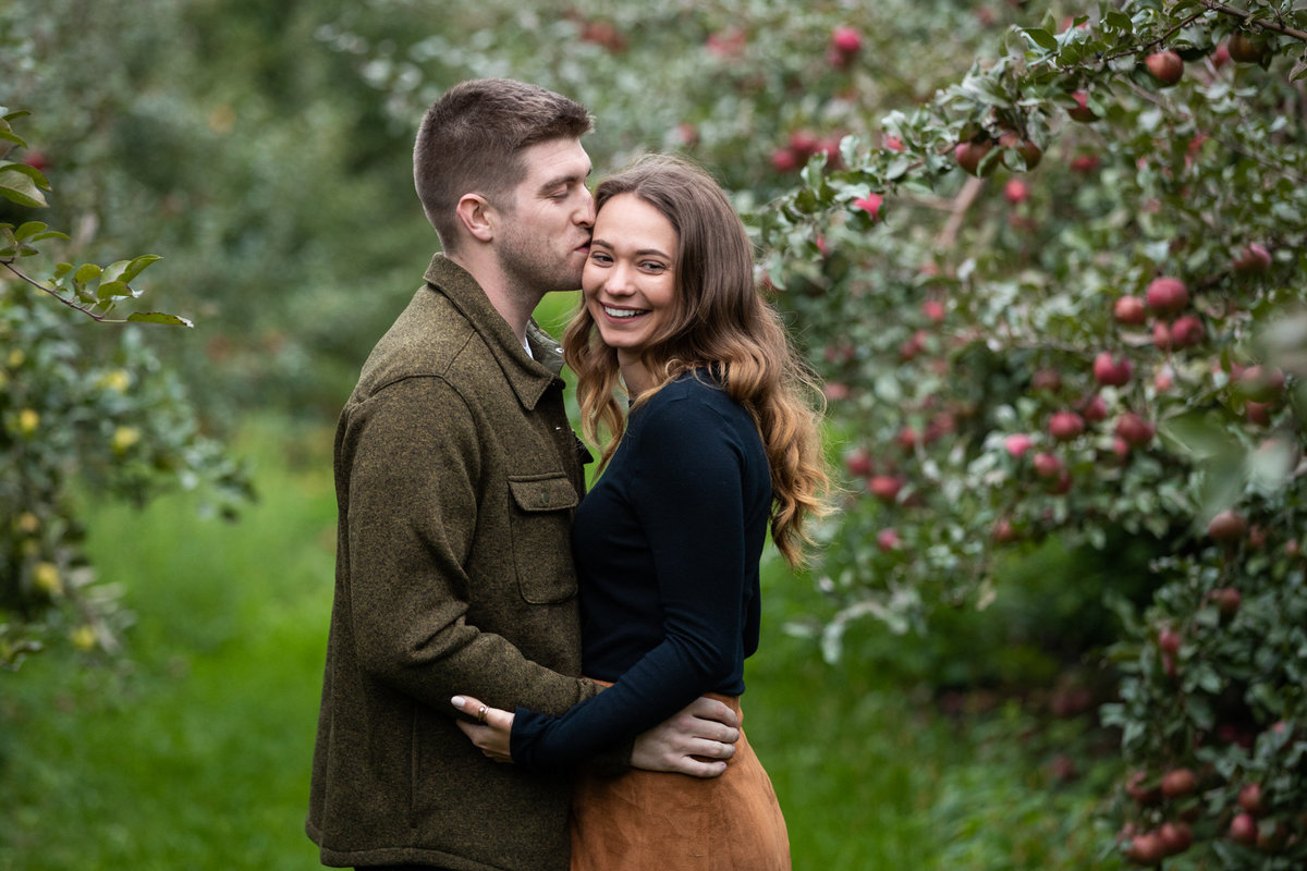 Orchard engagement session with these two sweethearts