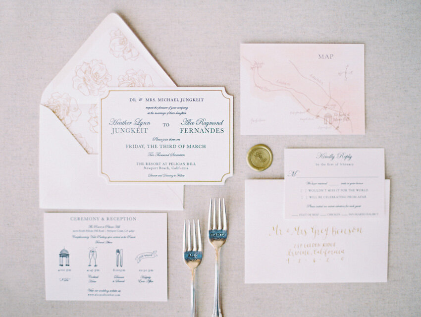 pirouettepaper.com | Wedding Stationery, Signage and Invitations | Pirouette Paper Company | Resort at Pelican Hill Newport Beach Wedding | The Grovers  (31)