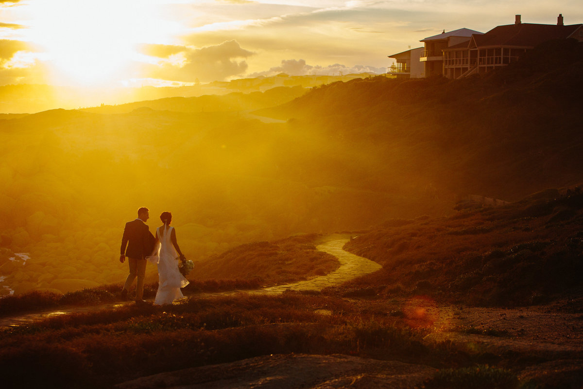 port elliott wedding, sunset
