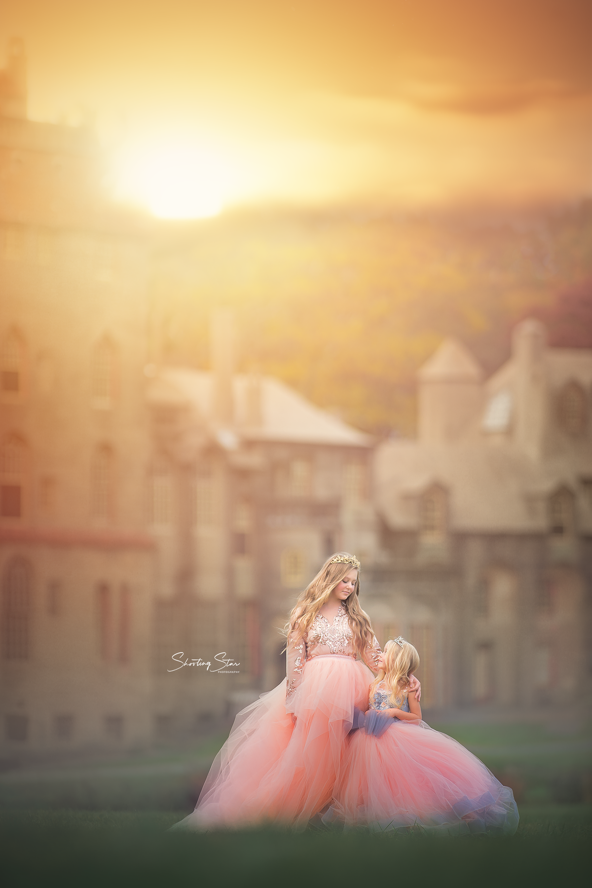 princess photo session at fonthill castle pennsylvania