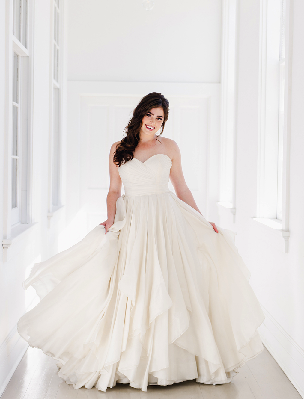 Beautiful Timeless Bride in a Heidi Elnora Gown