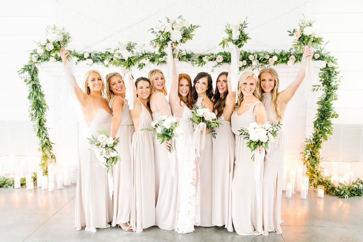 The-Hutton-House-Fireplace-Bride-and-Bridesmaids-florals-Fun-Luxury-Wedding