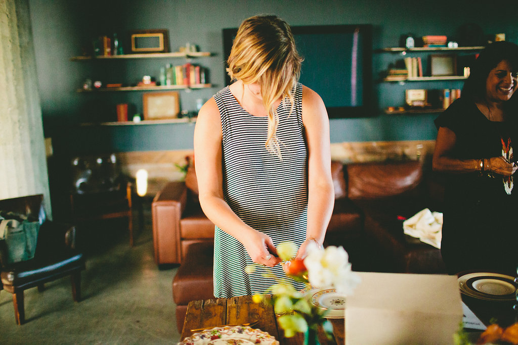 Kari of Feathered Arrow events preps for dinner party