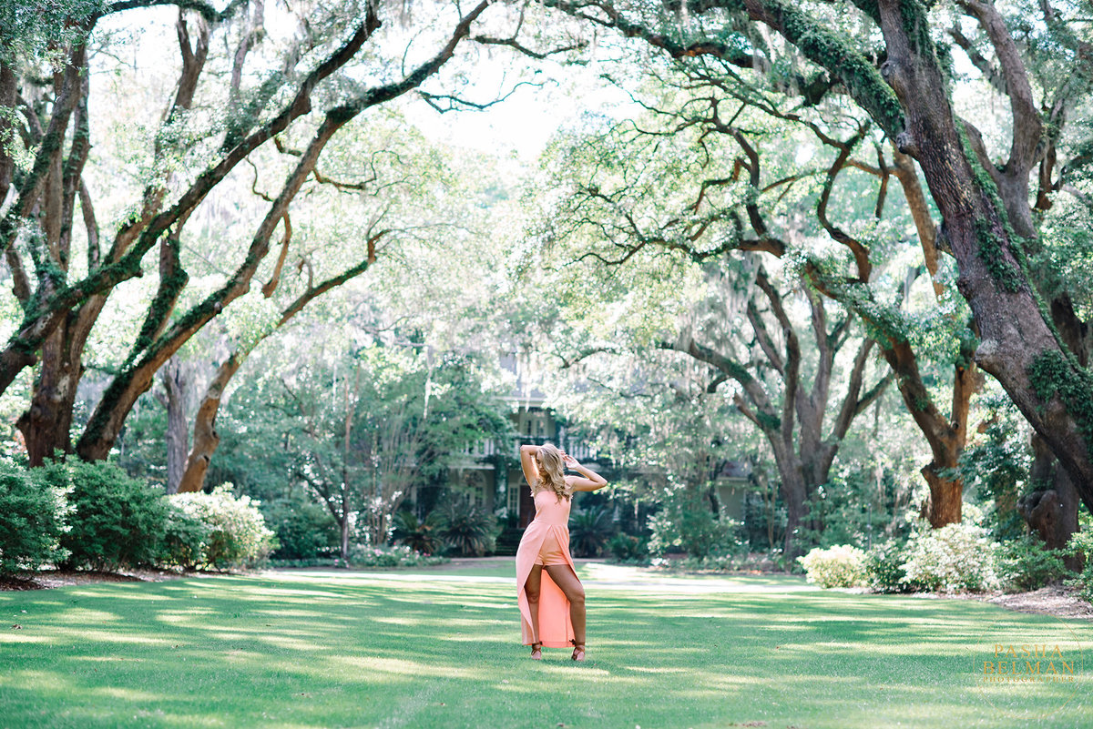 Senior Pictures Ideas for Girls in South Carolina at Wachesaw Plantation near Charleston, SC
