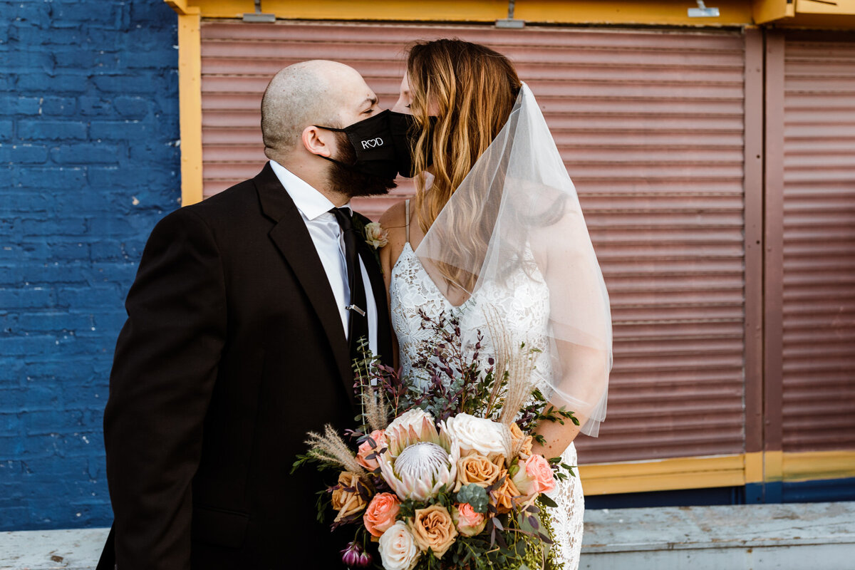 Bride-And-Groom-Wearing-Masks-Covid