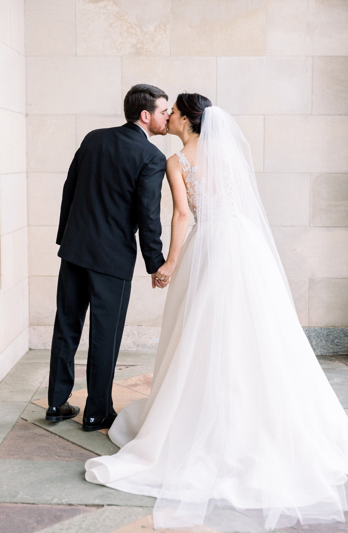 groom and bride Winterthur wedding Wilmington Delaware