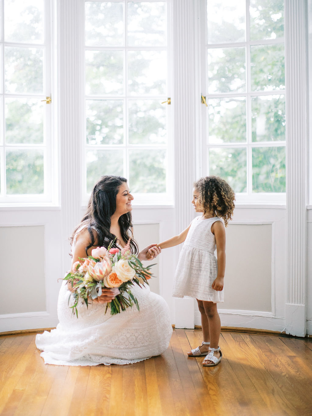 Greenville Country Club bride bouquet flower girl