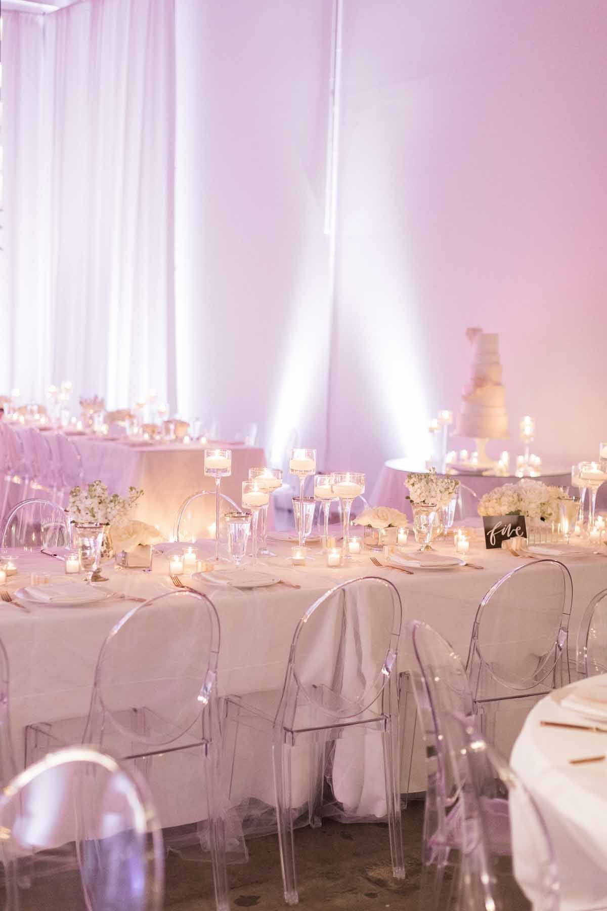 Simple and understated white wedding with huge impact