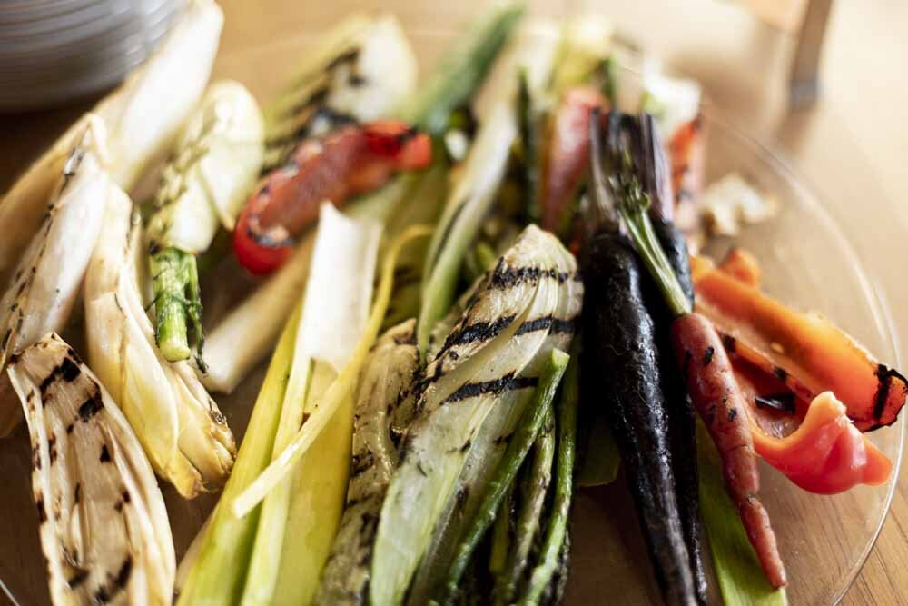 Grilled Vegetables Photographed by Alexandria Food Photographer, Erin Tetterton Photography