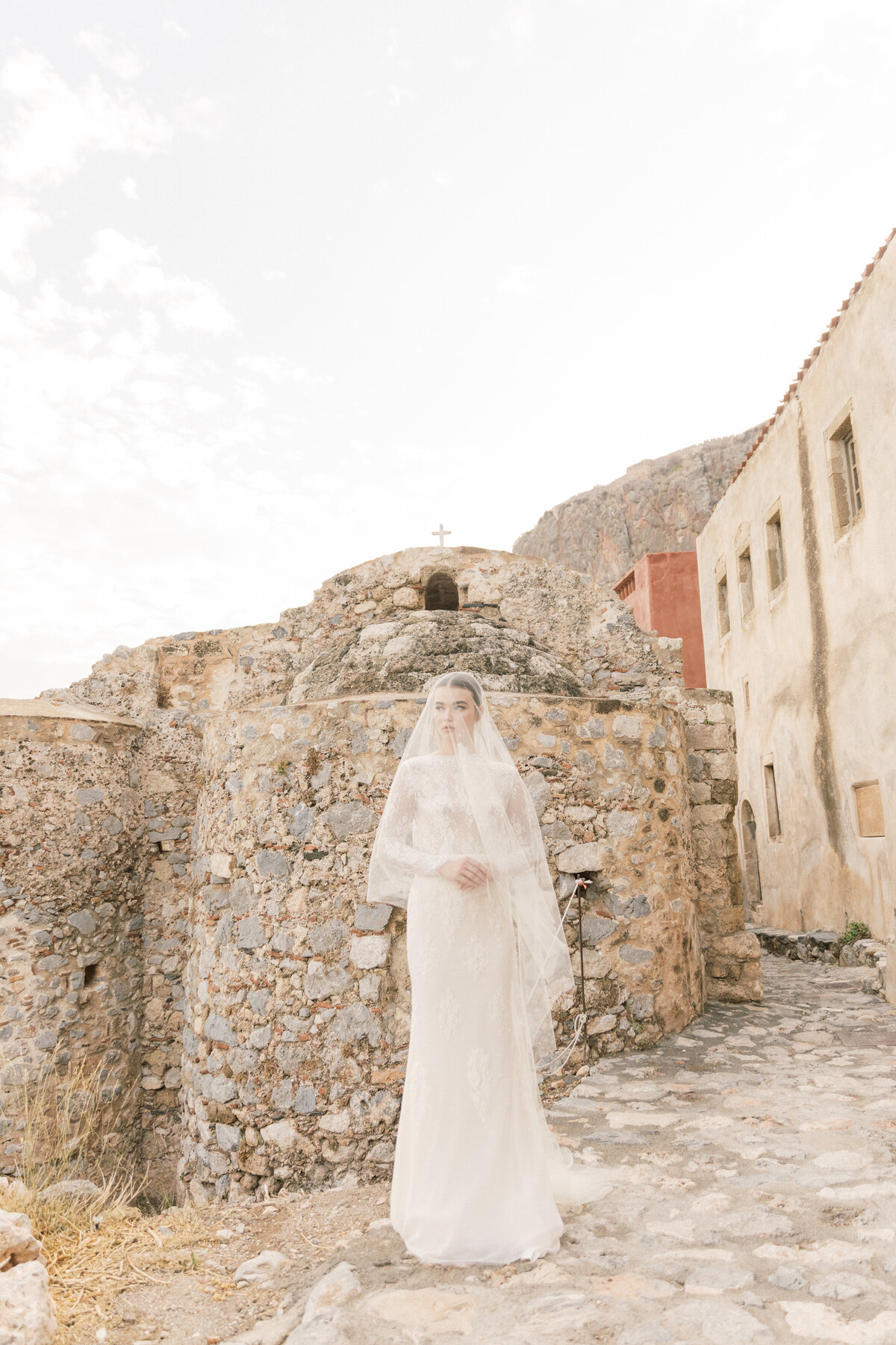 Bridal Portrait Editorial Photoshoot in Greece 9