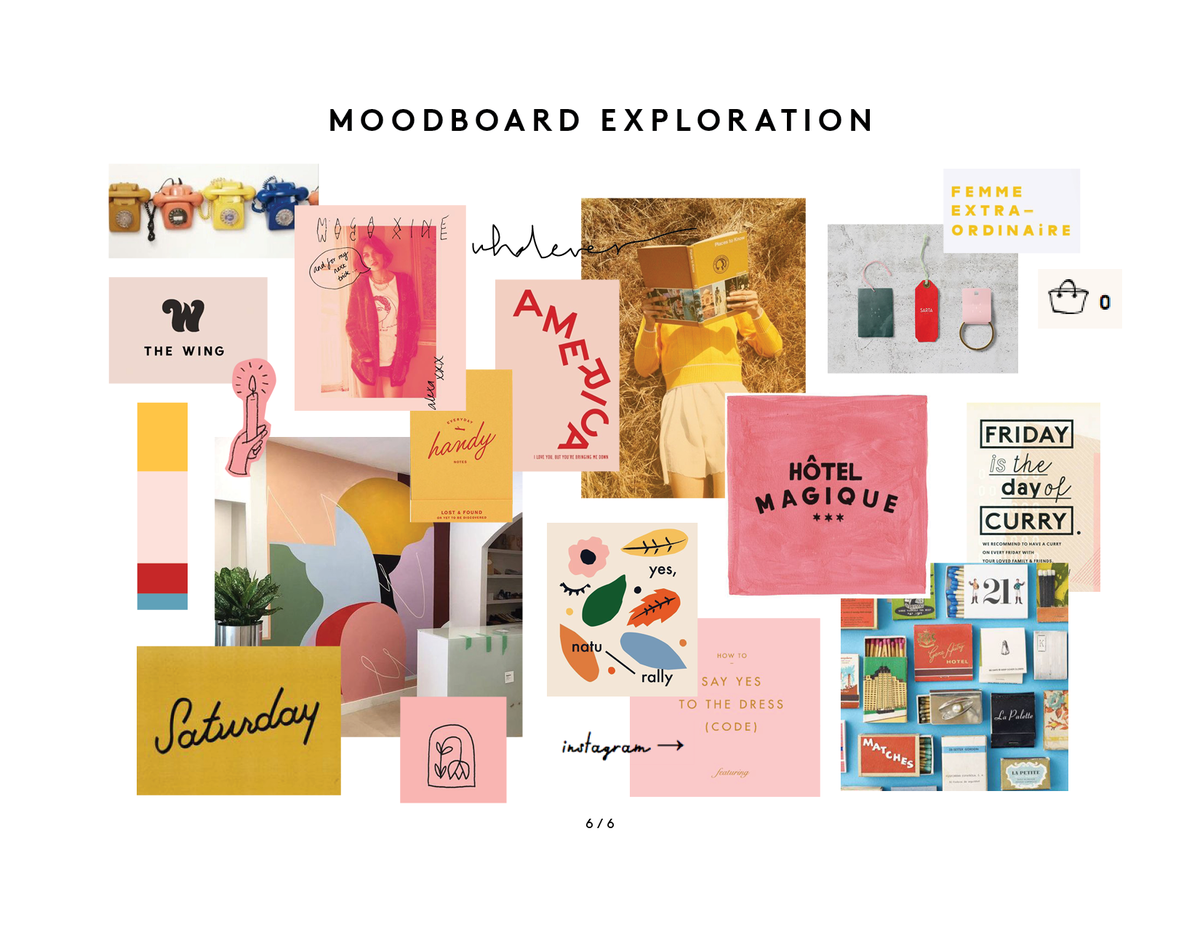 Make Moves Creative Direction - moodboard