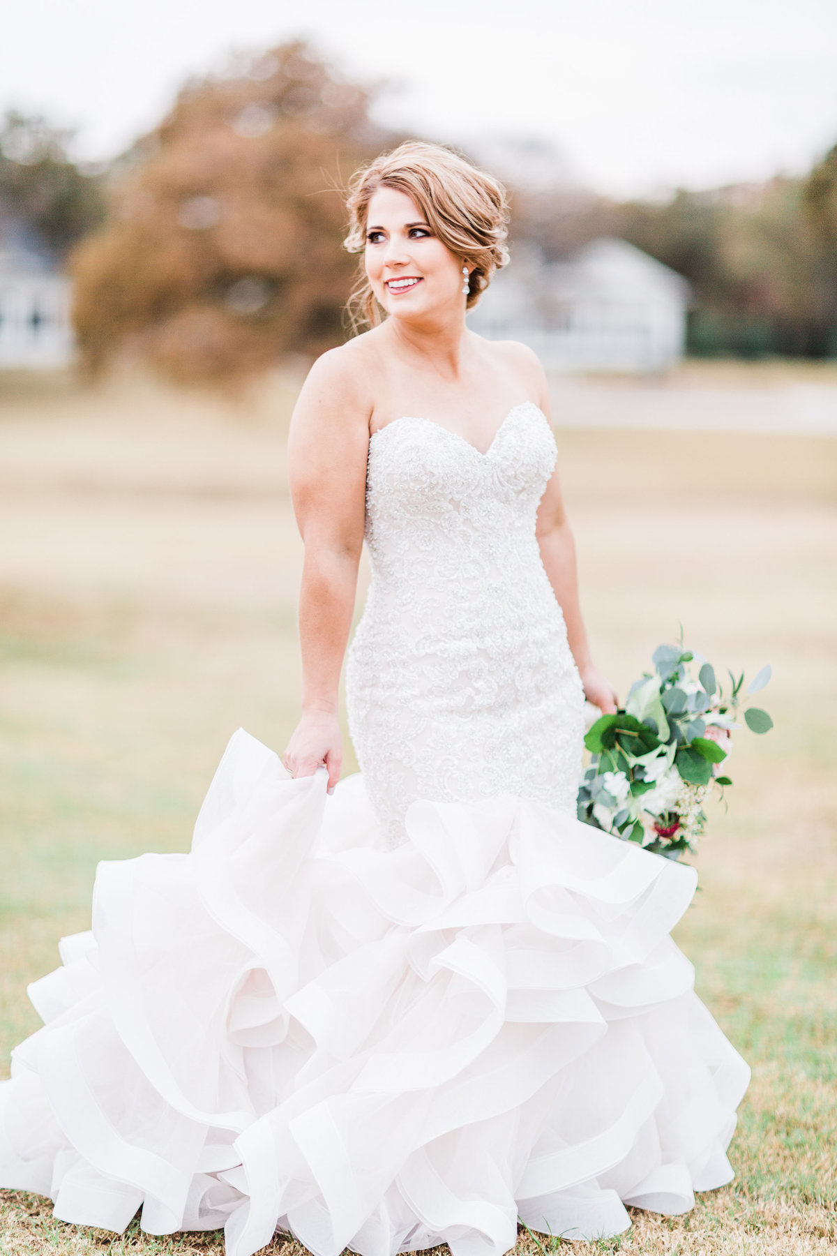 Aubry Texas Milestone Walters Wedding Estates Bridal Portraits