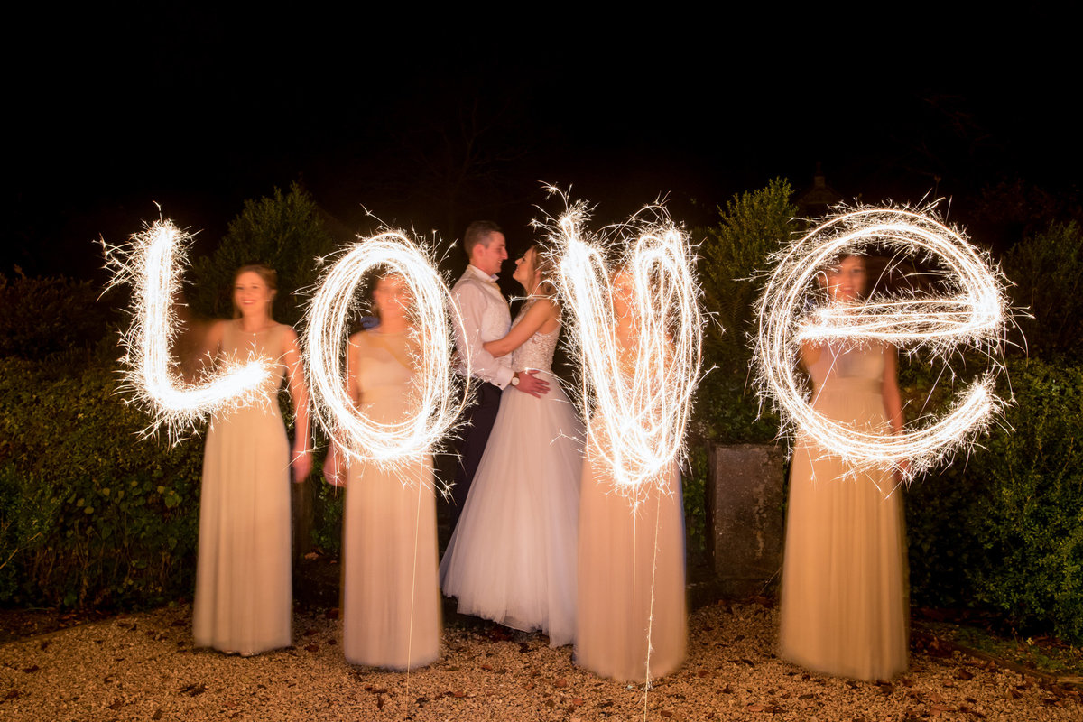 sparkler photo idea at langdon court devon